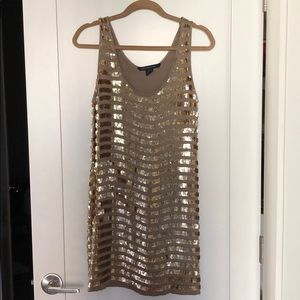 French Connection Gold Sequin Dress